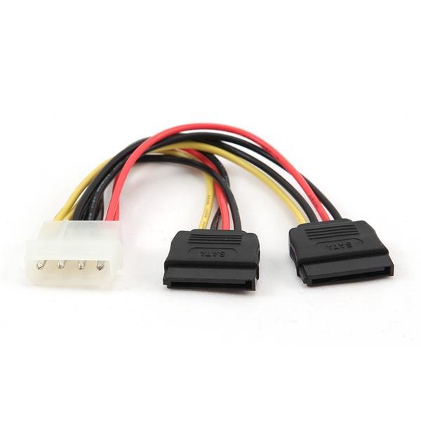 Kábel 2*Serial ATA 15 cm, napájací