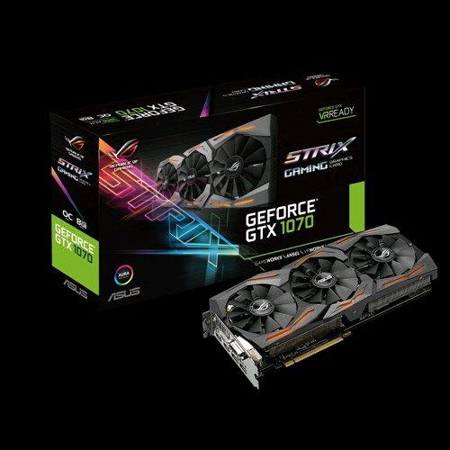 ASUS STRIX-GTX1070-O8G-GAMING 8GB/256-bit, GDDR5, DVI, 2xHDMI, 2xDP