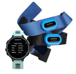 Garmin Forerunner 735XT Midnight blue & Frost blue Tri Bundle