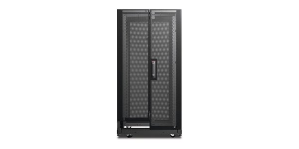 NetShelter AV 24U 600mm Wide x 825mm Deep Enclosure with Sides and 10-32 Threaded Rails Black