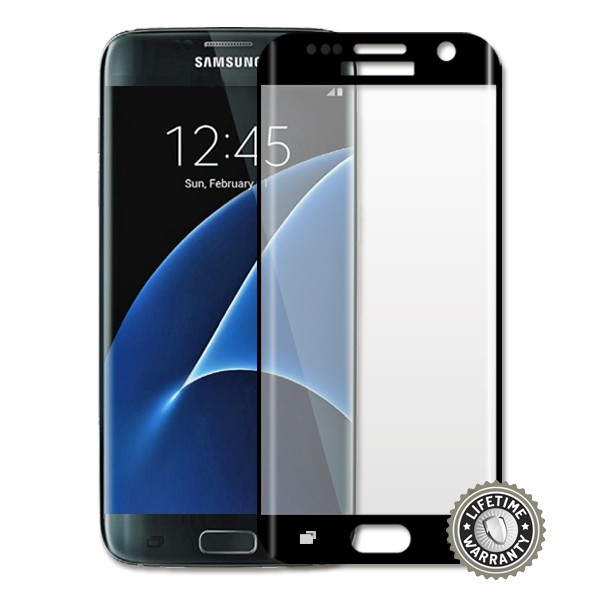 ScreenShield G935 Galaxy S7 Edge Tempered Glass protection full cover (black) - Film for display protection