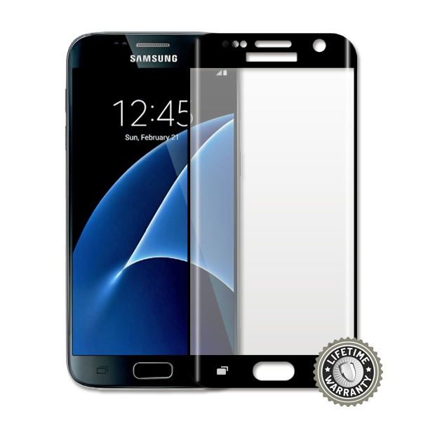 ScreenShield G930 Galaxy S7 Tempered Glass protection full cover (black) - Film for display protection