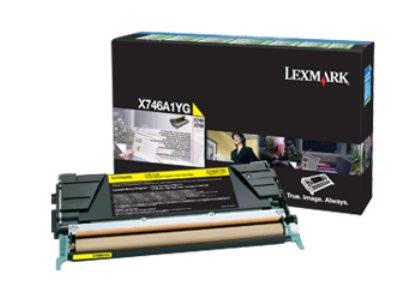Lexmark X746, X748 Yellow Return Program Toner Cartridge 7K poskodeny obal