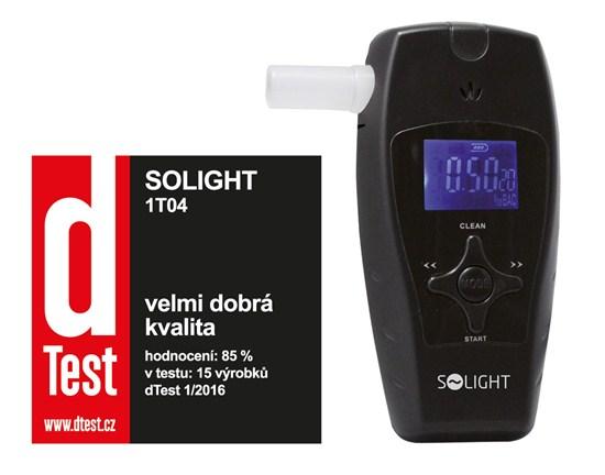 Solight alkohol tester profi, 0,1 - 3,0‰ BAC, citlivosť 0,1‰, farebný displej, automatické čistenie