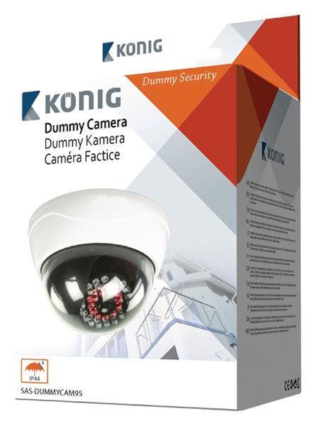König Atrapa exteriérovej dome kamery s infračerveným LED svetlom