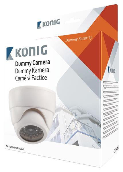 König Atrapa interiérovej dome kamery s infračerveným blikajúcim LED svetlom