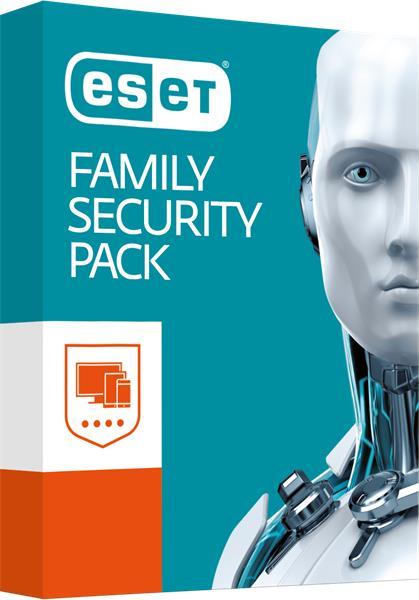 BOX ESET Family Security Pack pre 4 zariadenia / 18 mesiacov + DARCEK