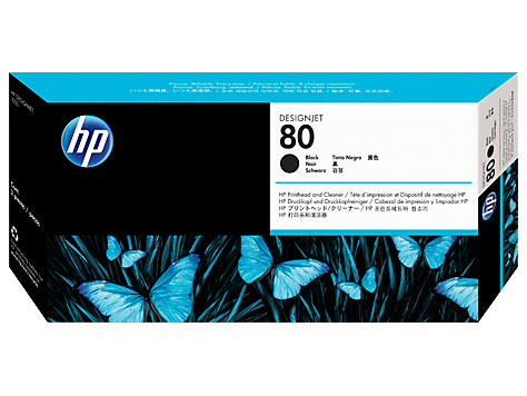 HP No.80 Black Printhead and Printhead Cleaner