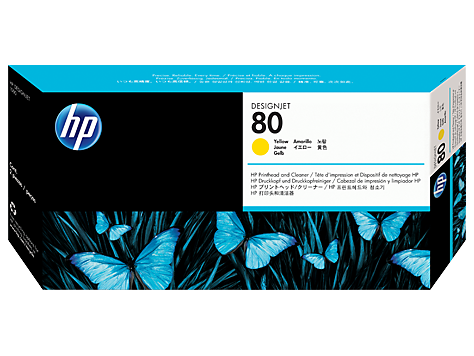 HP No.80 Yellow Printhead and Printhead Cleaner