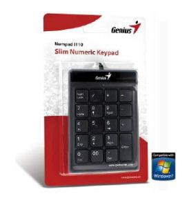 Genius numerická klávesnica Numpad i120, USB, Slim