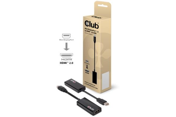 Club3D Mini DisplayPort™ 1.2 to HDMI™ 2.0 4K60Hz UHD Active Adapter