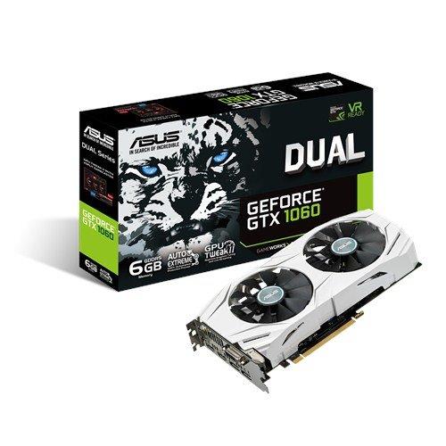ASUS DUAL-GTX1060-6G 6GB/192-bit, GDDR5, DVI, 2xHDMI, 2xDP
