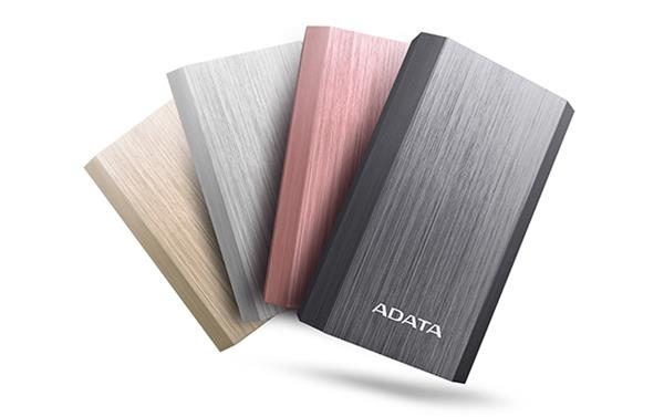 A-DATA Power Bank A10050, 10500mAh, titánový