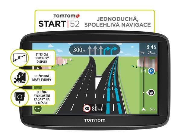 TomTom Start 52 EU45 , Lifetime