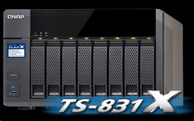 QNAP™ TS-831X-8G-EU 8 Bay NAS Alpine AL-314 Quad-core 1.4 GHz dual 10GbE SFP+ ports