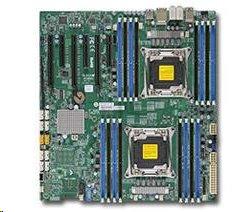 SUPERMICRO MB 2xLGA2011-3, iC612 16x DDR4 ECC,10xSATA3,(PCI-E 3.0/3,2(x16,x8)PCI-E 2.0/1(x4),Audio,2x LAN