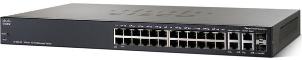 CISCO SF300-24 24-port 10/100 Managed Switch with Gigabit Uplinks