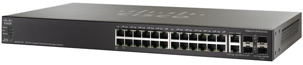 CISCO SG500-28 28-port Gigabit Stackable Managed Switch