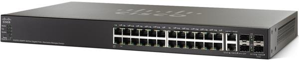 CISCO SG500-28P 28-port Gigabit POE Stackable Managed Switch