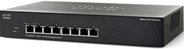 CISCO SF 300-08 8-port 10/100 Managed Switch