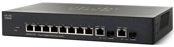 CISCO 10-port Gigabit Smart Switch, PoE