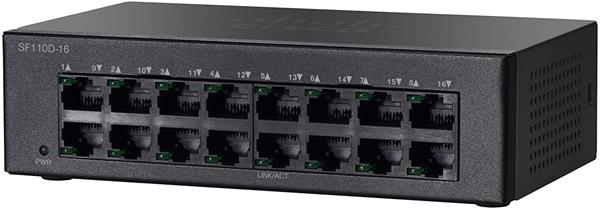 CISCO SF110D-16 16-Port 10/100 Desktop Switch