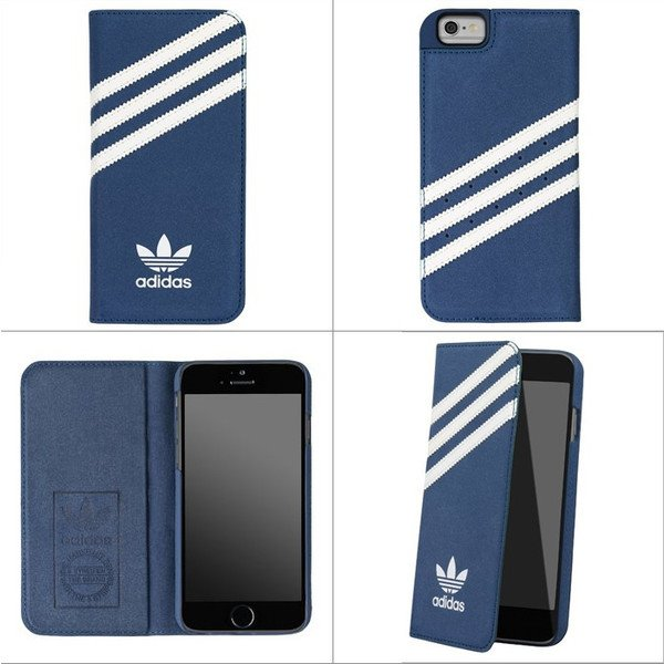Adidas Originals - Booklet case-iPh 6/6s-blue/white