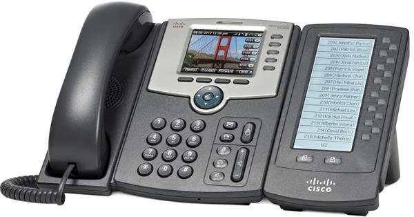 5-Line IP Phone with Color Display, PoE, 802.11g, Bluetooth