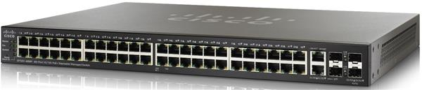 SF500-48MP 48-port 10/100 Max PoE+ Stackable Managed Switch