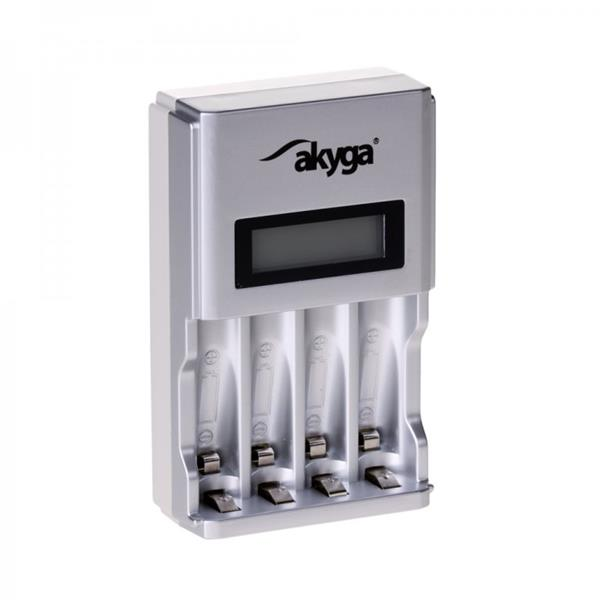 Akyga Battery charger AK-BC-01 4 x AA/AAA LCD