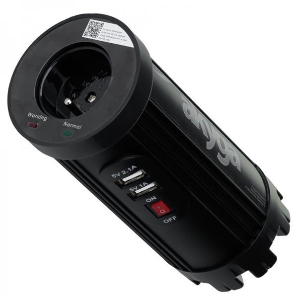 Akyga Car inverter AK-CI-01 150W 12V -> 230V 2x USB 2100mA