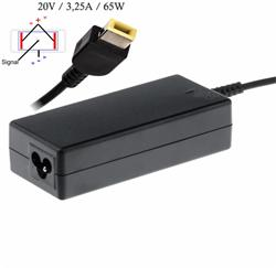 Akyga Notebook power supply Dedicated AK-ND-24 20V/3.25A 65W Square yellow LEN