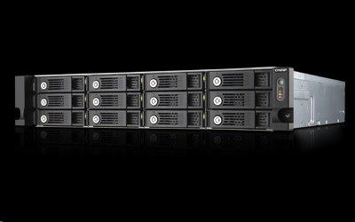 QNAP™ TS-1253U 12 Bay NAS, Intel Celeron® 2.4GHz , 4GBGB DDR3L RAM, EU Edition