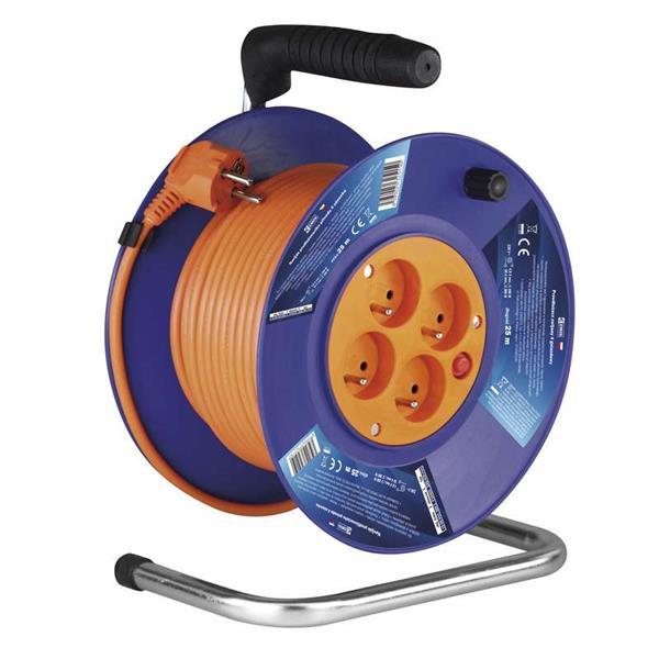 Kábel predlžovací 220V/230V, 4 zásuvky, 50m na bubne P19450