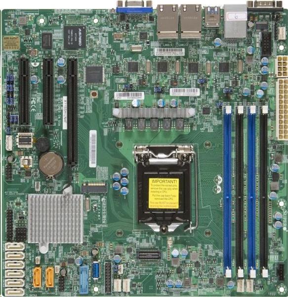 Supermicro X11SSH-LN4 F1xLGA1151 iC236,DDR4,8xSATA3,PCIe 3.0 (1 x8 (in x16), 1 x8, 1 x4 (in x8)), 1x M.2 NGFF, 4xLAN,IPM