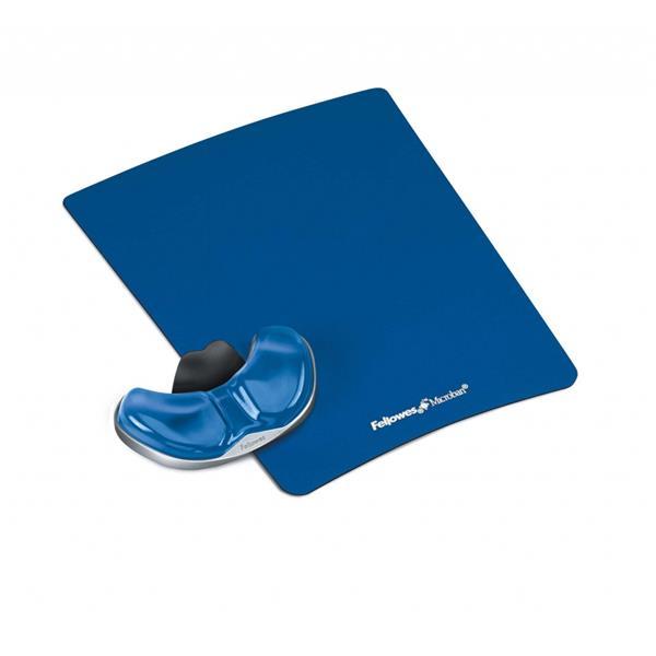 Fellowes Health-V™ Crystal podložka pod myš s opierkou dlane, modrá