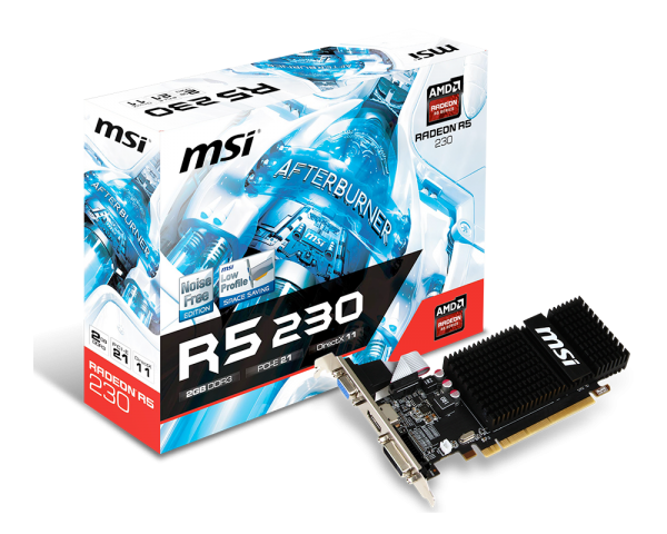 MSI Radeon R5 230 GAMING 2G LP, DP, HDMI, DVI