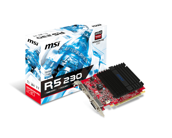 MSI Radeon R5 230 GAMING 1G LP, HDMI, DVI, VGA