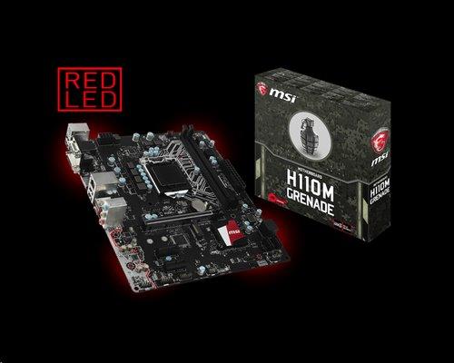 MSI H110M GRENADE/Intel H110/LGA 1151/2x DDR4/4x sSATA/mATX