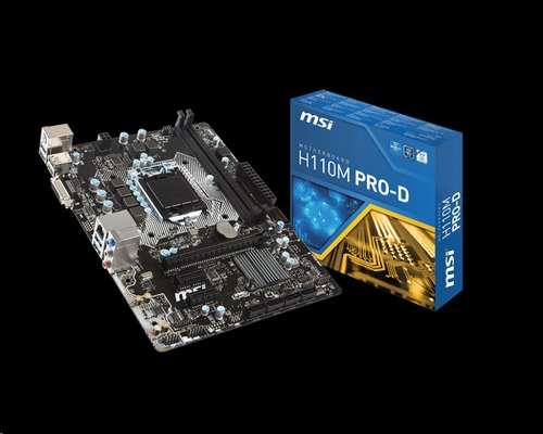 MSI H110M PRO-D/H110/DualDDR4-2133/SATA3/DVI/USB 3.1/mATX