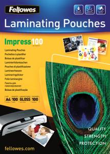 Fellowes Laminovacia fólia lesklá A4 (216x303), 100 mic, 100 ks