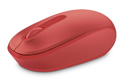 Myš Wireless Mobile Mouse 1850 - Flame Red V2 cervena