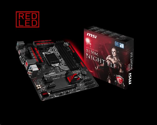 MSI B150M NIGHT ELF/Socket 1151/DDR4/USB3/DVI/HDMI/Intel i219V/mATX