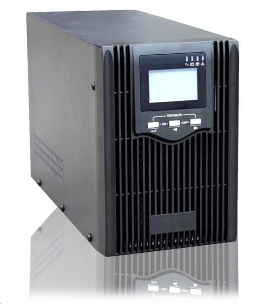 East UPS 1000VA, čistý sinusový výstup, 2x zásuvka, RJ45, USB data
