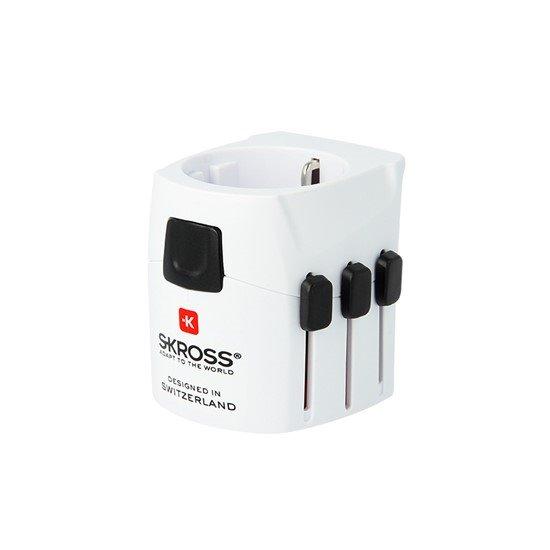 SKROSS World PRO Light cestovný adaptér, 6.3A max., uzemnený, UK+USA+Austrálie/Čína