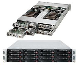 Supermicro Server SYS-6028TR-HTR 2U DP 4 nodes