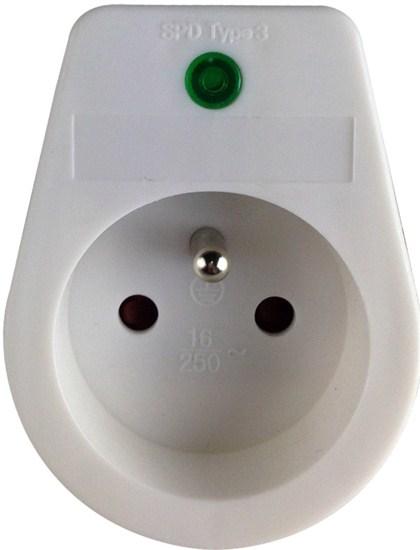 Solight prepäťová ochrana do zásuvky, 236J, 1 zásuvka, kontrolka