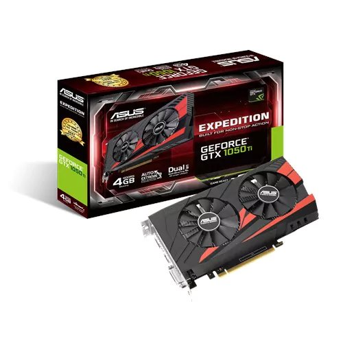 ASUS EX-GTX1050TI-4G 4GB/128-bit GDDR5, DVI, HDMI, DP