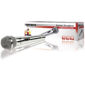 Smerový dynamický mikrofon strieborný