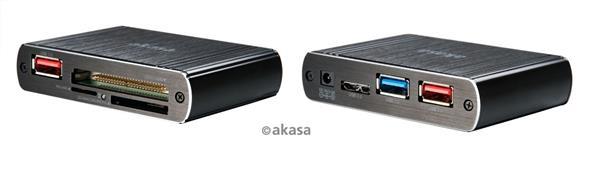 AKASA AK-HCE-01BK, Pontos X1 USB 3.0 čítačka kariet ( 8v1), hlinikový